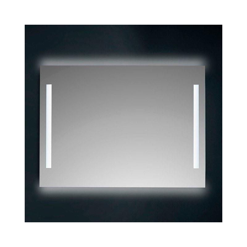 Espejo baño luz led cuadrado retroiluminado y Frontal Hera