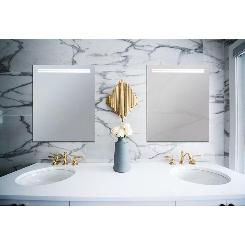 Espejo baño luz led cuadrado retroiluminado Geo