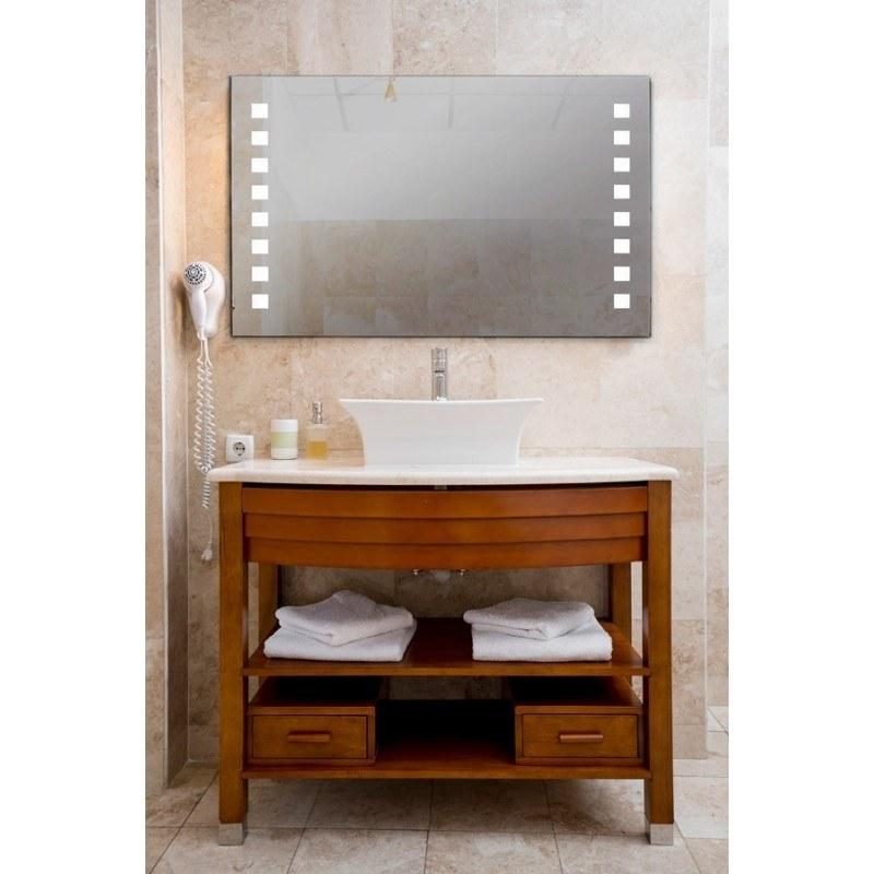Espejo baño luz led cuadrado retroiluminado Sara