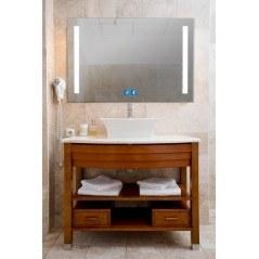 Espejo baño luz led cuadrado retroiluminado Sama