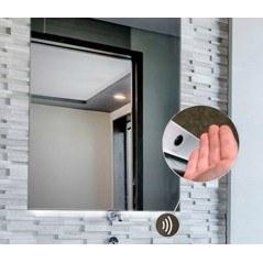 Espejo baño luz cuadrado con LED integrado frontal Cinta