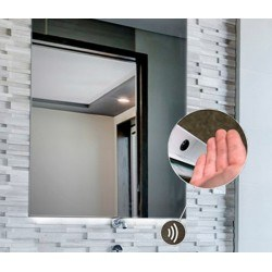 Espejo de baño luz led integrado cuadrado