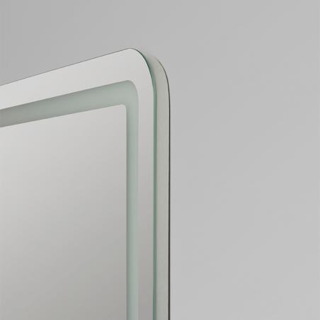 Espejo baño luz LED frontal con esquinas redondeadas Pina