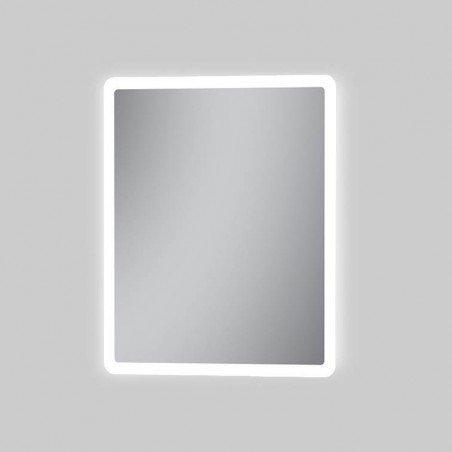 Espejo baño luz LED frontal con esquinas redondeadas Nusa