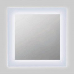 Espejo baño luz LED frontal con esquinas redondeadas Kone
